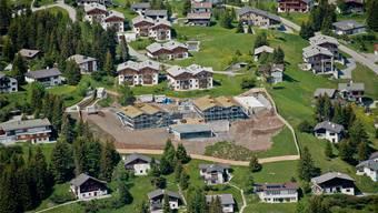 Roger Federers Traumferienhaus in Valbella, als sich das Chalet im Bau befand