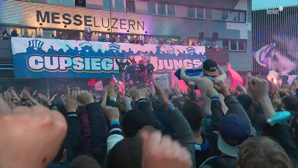 Cupsieger FC Luzern - Empfang auf der Luzerner Allmend
