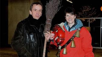 Amtseinsetzung des Hägendörfer Roots XLII. Jasmin Bürki mit dem Gemeindepräsidenten Andreas Heller.