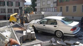 Das Auto nach dem Unfall in Unterägeri