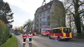 Waldshut-Tiengen: Brand in Rheinschloss führt zu Verkehrsbehinderungen.
