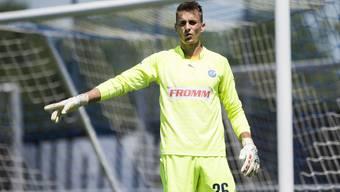 Joël Mall darf im Cup gegen den SC Buochs erstmals das GC-Tor hüten