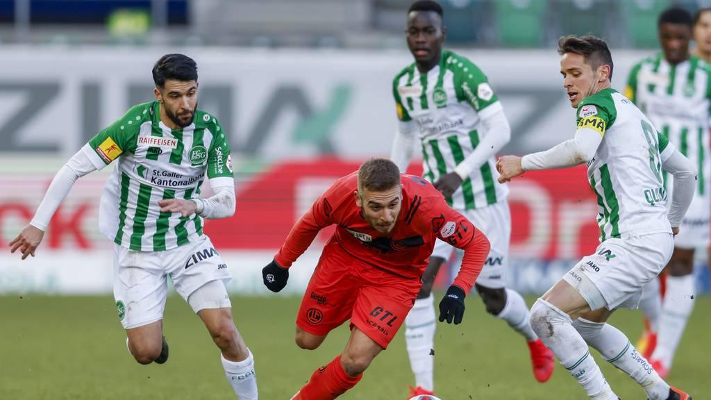 FCSG und Lugano nach 1. Halbzeit immer noch mit 0:0