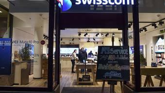 Ein Geschäft von Swisscom (Archivbild).
