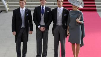Prinz Félix (zweiter v. links) heiratet am Dienstag (Archivbild)