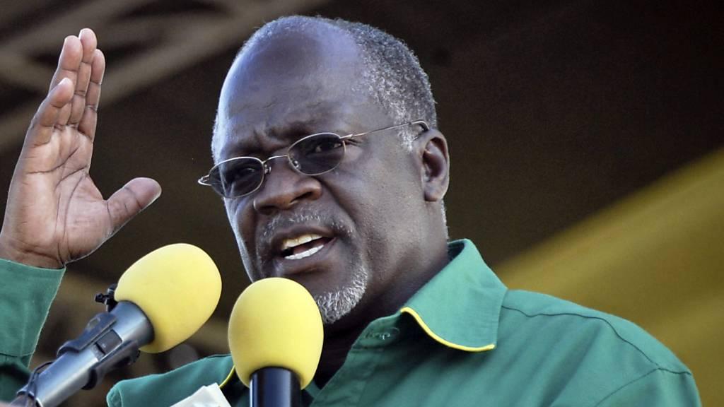 Der amtierende Präsident Tansanias, John Magufuli, hat nach Angaben der Wahlkommission die jüngsten Wahlen in dem ostafrikanischen Land gewonnen. (Archivbild)