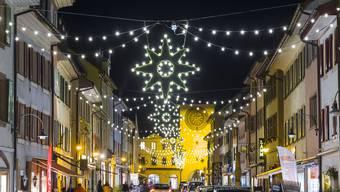 Weihnachtsbeleuchtung in der Region Basel