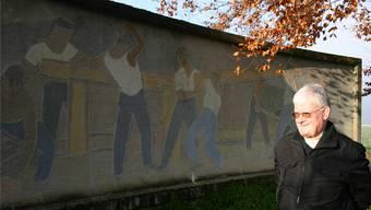 «Es bräuchte wieder einmal etwas Farbe», sagt Kurt Liebhardt über den Zustand des Denkmals unterhalb der Kirche Rein. Louis Probst