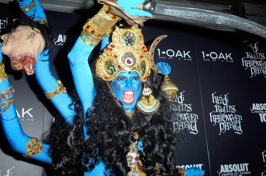 Heidi Klum bei ihrer Halloween-Party 2008 (Getty Images)