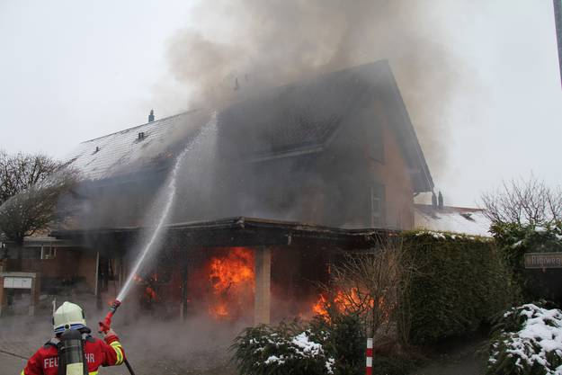 Mehrere Feuerwehren waren im Einsatz.