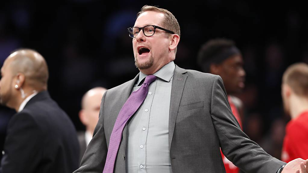 Toronto Raptors Headcoach Nick Nurse regt sich auf
