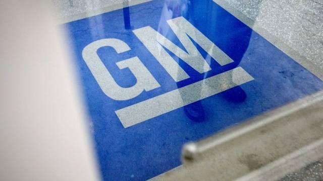 Das GM-Logo in einem Gebäude des Autokonzerns (Archiv)
