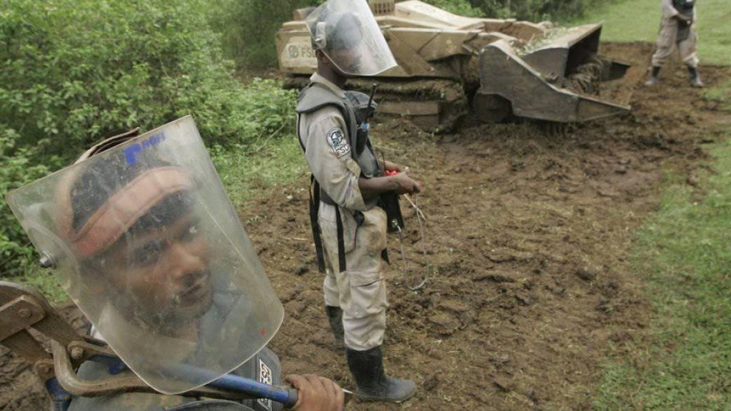 «Andenken» aus dem Bürgerkrieg: Minenräumung in Sri Lanka. (Archiv)