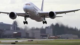 Eine Boeing 787 - das neue Flaggschiff des amerikanischen Herstellers (Archiv)