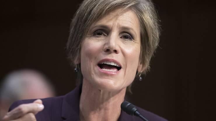Die ehemalige US-Justizministerin Sally Yates betonte in einer Senats-Anhörung in Washington, dass sie das Weisse Haus frühzeitig vor der Personalie Flynn gewarnt habe.