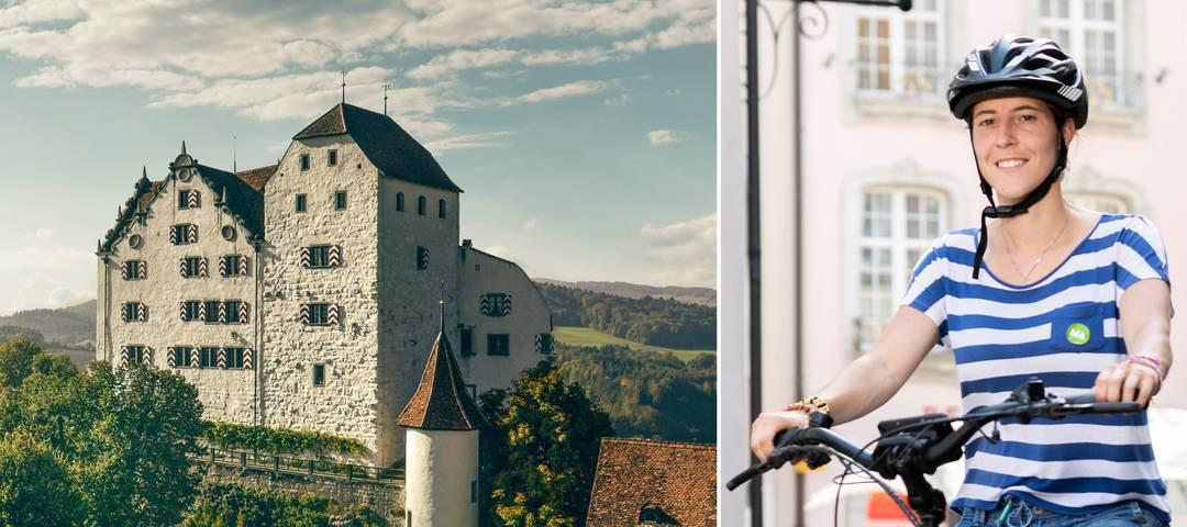 E-Bike-Tour zu drei Aargauer Schlössern.