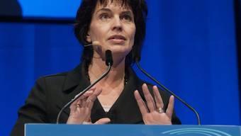 Bundesrätin Doris Leuthard spricht sich am Stromkongress für erneuerbare Energien aus