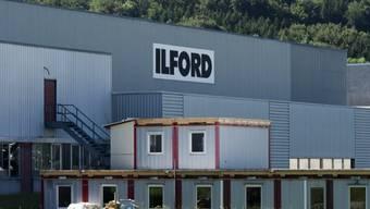 Das Ilford-Fabrikgelaende in Marly FR