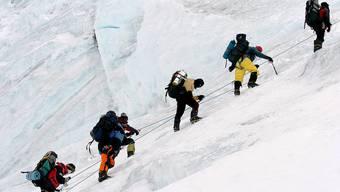 Bergsteiger am Mount Everest.