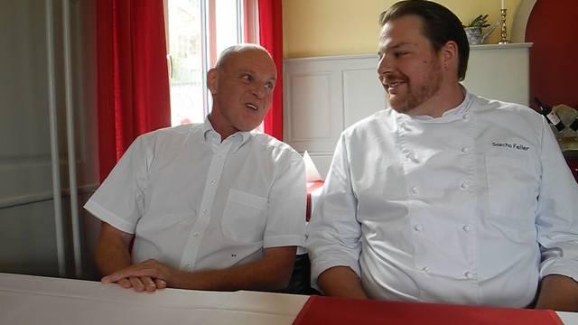 Roger Priester sagt, weshalb er Stammgast ist, Wirt Sascha Feller, wie er seine Gäste von seinem Restaurant überzeugen will.