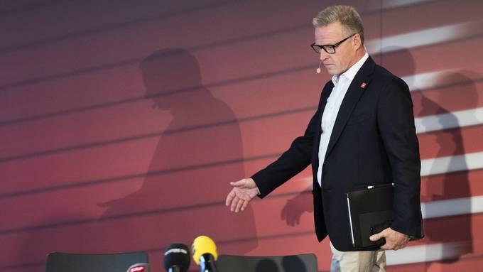 Andreas Meyer, CEO der SBB, an der Medienkonferenz vom 23. August 2019 in Bern. (KEYSTONE/Peter Klaunzer)