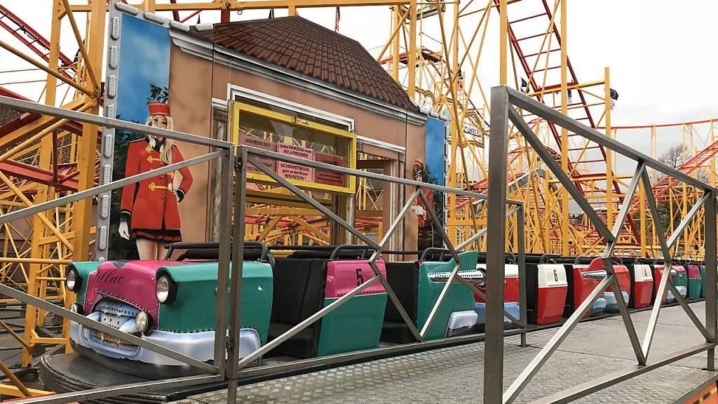 Die Achterbahn auf dem Basler Kasernenareal blieb nach dem Unfall vom Samstagabend zunächst geschlossen.