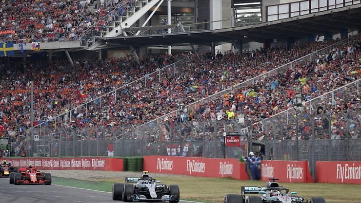 Der Formel-1-Zirkus rast auch 2019 durchs Motodrom auf dem Hockenheimring