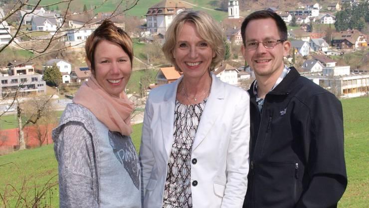 Treten für die FDP an (v.l.) Katja Probst-Mangold, Rita Füeg-Lisibach und Remo Hunziker.
