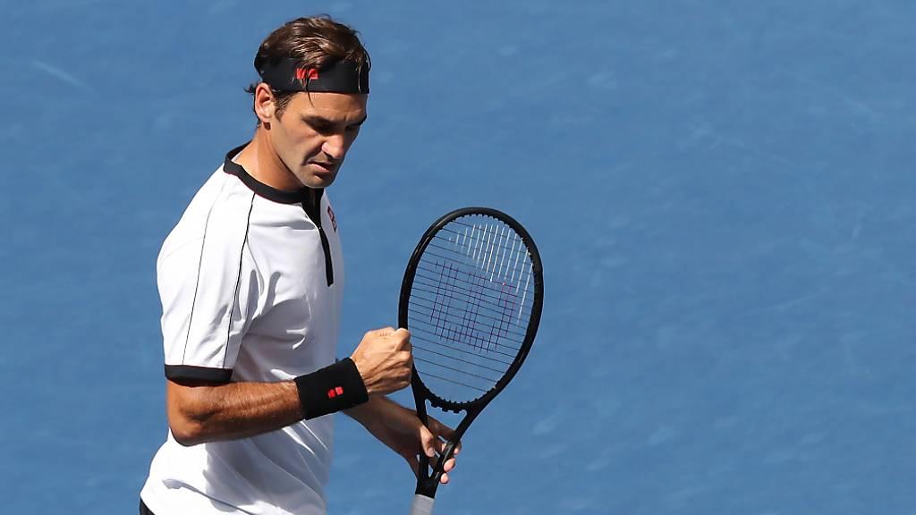 Federer leicht und locker im Viertelfinal
