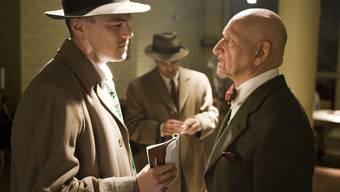 Im Psycho-Gefängnis: US-Marshall Teddy Daniels (Leonardo DiCaprio) verhört Klinikleiter Cawley (Ben Kingsley). (Universal)