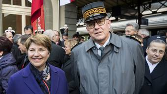 Viola Amherd und Philippe Rebord.