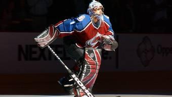 Der erste Schweizer im NHL-Rampenlicht: David Aebischer 2003 im Dress der Colorado Avalanche.
