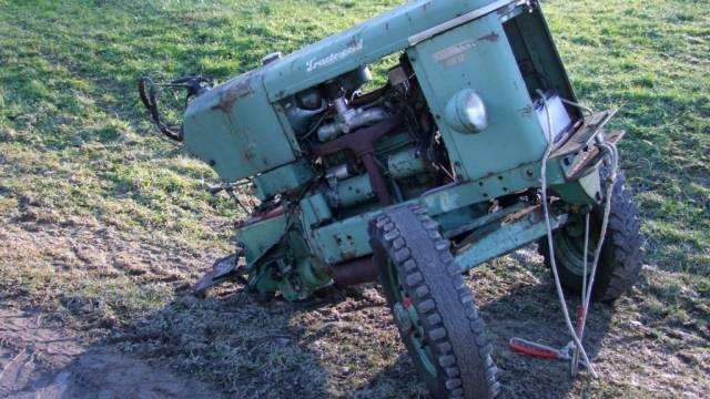 Der vordere Teil des Traktors (Quelle: Kapo St. Gallen)