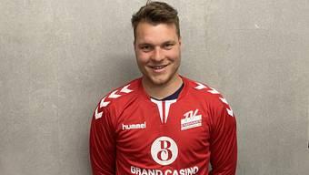 Torhüter Yves Imhof (M.) stösst vom NLB-Klub BSV Stans zum TV Endingen.