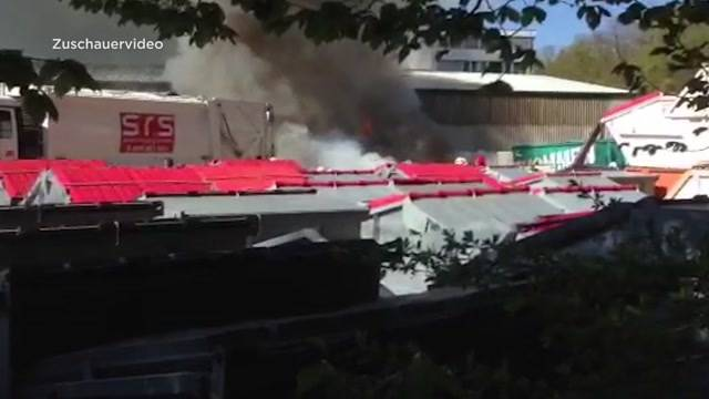 Brand bei Swiss Recycling Services