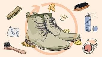 Regelmässige Schuhpflege ist für einen überzeugenden Auftritt unerlässlich.