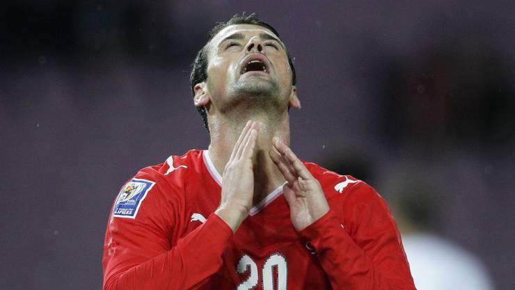 Berühmter Bürger: Der Neu-Nationalspieler Albert Bunjaku wurde in Weiningen eingebürgert.Sein Weg führte ihn von den Limmattaler Fussballplätzen bis in die deutsche Bundesliga nach Nürnberg. (Bild: Valentin Flauraud/Reuters)
