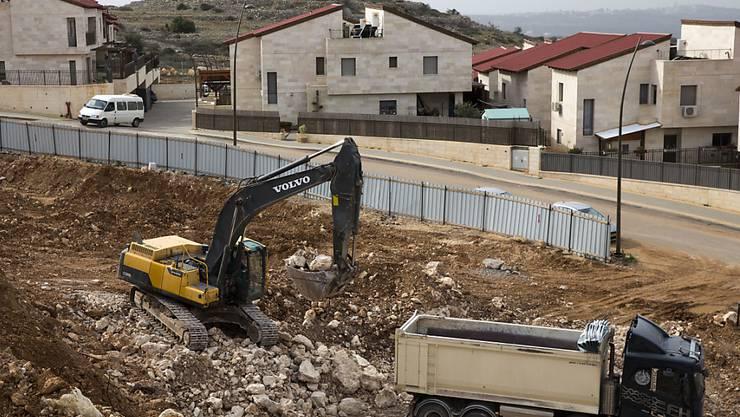 Israel legalisiert Siedlungen im Westjordanland mit einem speziellen Gesetz nachträglich - das löst international Kritik aus. (Archiv)