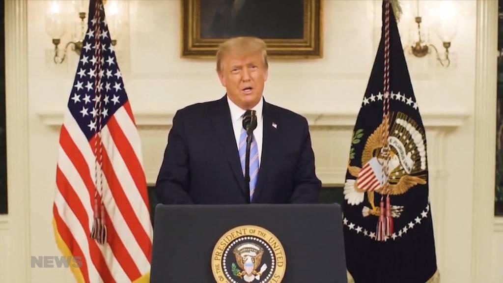 Donald Trump verurteilt Gewalt und zeigt sich einsichtig