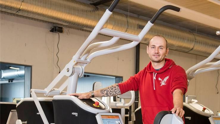 Hier wird künftig geschwitzt: Markus Schmid, Geschäftsführer von GoEasy-Fitness.