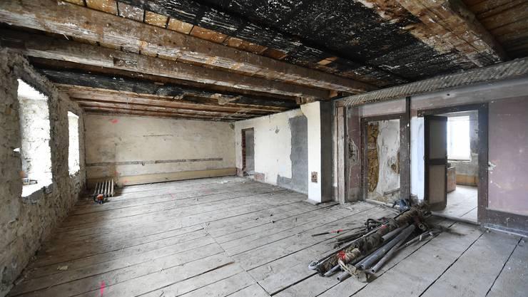 Die Räume zu Zeiten der Abbruchsarbeiten