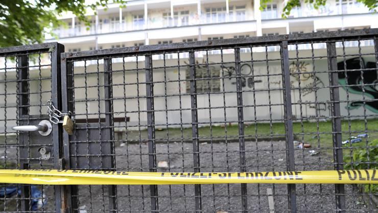 Das Gelände des Kinderspitals ist abgesprerrt