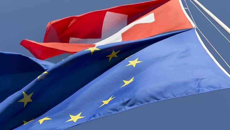 Bei der nationalrätlichen Debatte zur Begrenzungsinitiative der SVP geht es einmal mehr auch um die Zukunft der Beziehungen mit der Europäischen Union. (Themenbild)