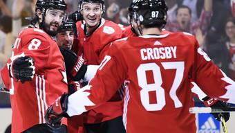 Die Kanadier bejubeln am World Cup den Einzug in den Final