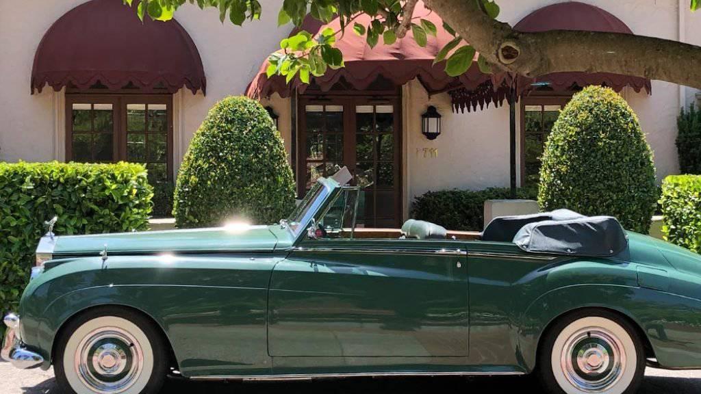 Der nun in New York versteigerte grüne Rolls Royce gehörte einst Hollwyood-Schauspielerin Elizabeth Taylor (1932-2011).
