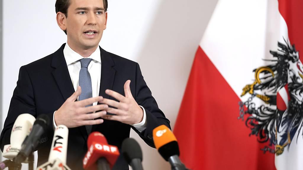 dpatopbilder - In Österreich haben Korruptionsermittlungen gegen Kanzler Sebastian Kurz und seinen engsten Kreis eine Regierungskrise ausgelöst. Foto: Georg Hochmuth/APA/dpa