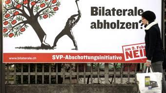 """Plakat der Gegner der Volksinitiative """"Gegen Masseneinwanderung"""""""