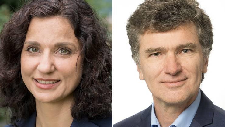 SP-Präsidentin Gabriela Suter und Grünen-Grossrat Severin Lüscher.