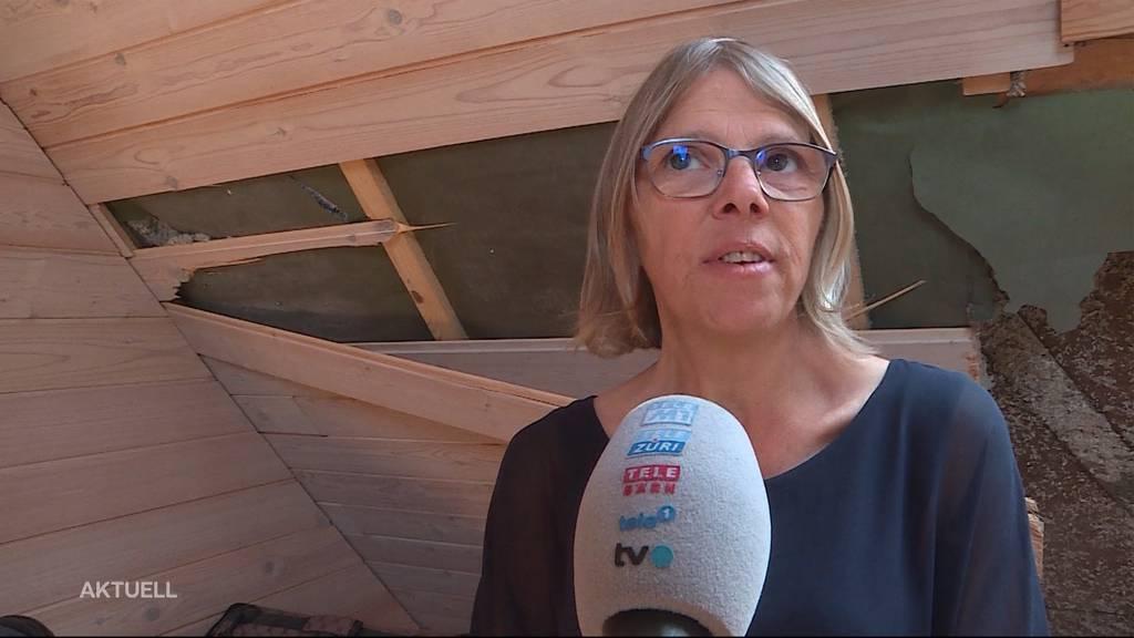 Huttwil: Haus nach Blitzeinschlag unbewohnbar