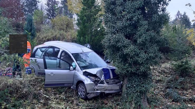 Auenstein AG, 19. November: Eine 58-jährige Frau kommt von der Strasse ab und prallt in einen Baum. Sie verletzt sich dabei leicht.
